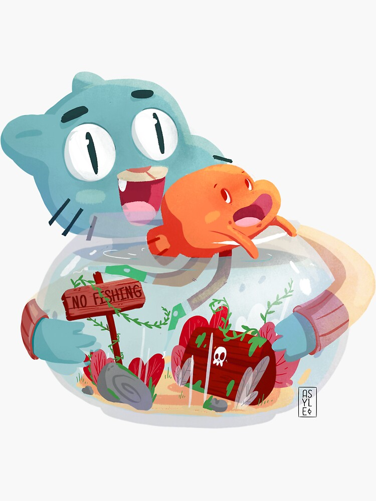 Gumball & Darwin by asyleart