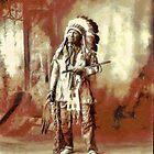 Chief American Horse, Sioux Oglala Lakotaca 1899 by Dennis Melling