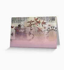 Old Egyptian Art Enhanced With Soft Light Greeting Card