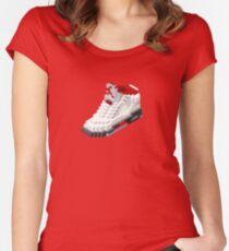 Air jordan V cube pixel Women's Fitted Scoop T-Shirt