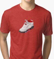 Air jordan V cube pixel Tri-blend T-Shirt