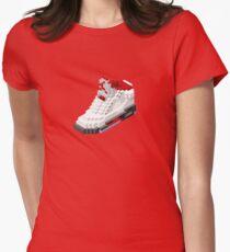 Air jordan V cube pixel Women's Fitted T-Shirt