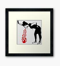 Lámina enmarcada Lovesick - Banksy, Streetart Street Art, Grafitti, Obras de arte, Diseño para hombres, Mujeres, Niños