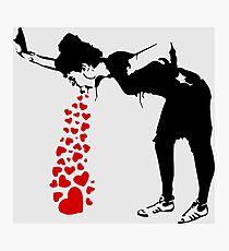 Lovesick - Banksy, Streetart Straßenkunst, Grafitti, Artwork, Design für Männer, Frauen, Kinder Fotodruck