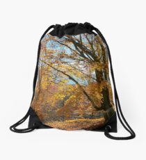 autumn spirits in the woods Drawstring Bag