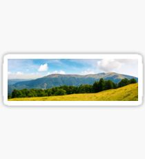 panoramic scene of a summer landscape Sticker