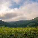 wonderful morning with clouds above the mountains by mike-pellinni