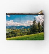 beautiful view in to the rural valley Studio Pouch