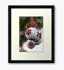 non-sparkly Christmas Framed Print