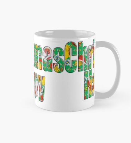 Canal flowers pattern happy christmas Mug