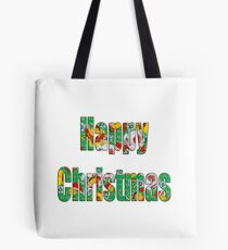 Canal flowers pattern happy christmas Tote Bag