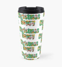 Canal flowers pattern happy christmas Travel Mug
