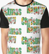 Canal flowers pattern happy christmas Graphic T-Shirt