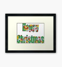 Canal flowers pattern happy christmas Framed Print