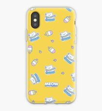 Bright Yellow Hula Cat Illustration iPhone Case