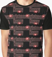Happy Christmas glow red  Graphic T-Shirt