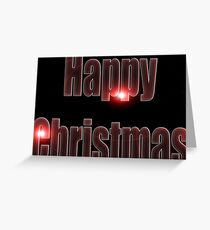 Happy Christmas glow red  Greeting Card