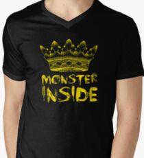 Monster Inside Mens V-Neck T-Shirt