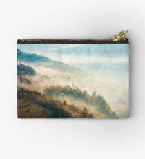 beautiful foggy autumn background Studio Pouch