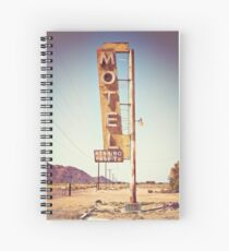 Motel Sign on the Route 66 Spiral Notebook