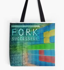 Blockchain hard fork successful. 3D illustration Tote Bag