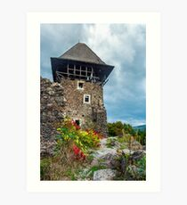 main tower of Nevytsky castle Art Print