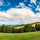 panorama of beautiful autumn countryside by mike-pellinni