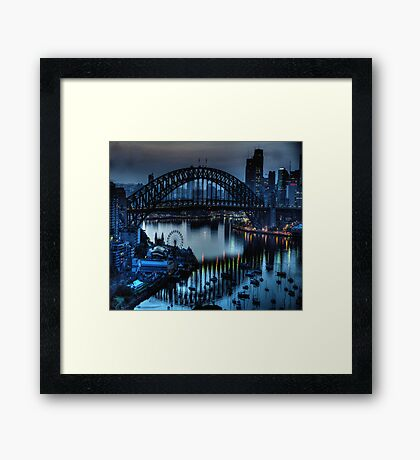 Double Vision - Moods Of A City The HDR Experience Framed Print