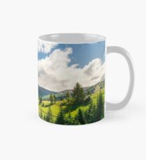 early autumn countryside in mountains Mug