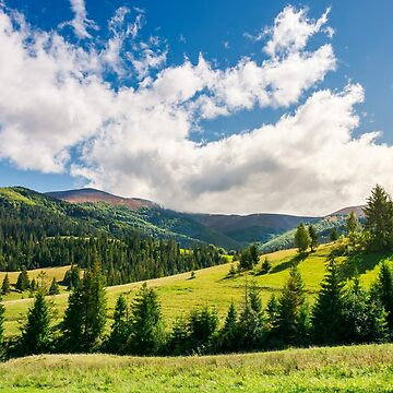 early autumn countryside in mountains by mike-pellinni
