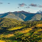 panorama of mountainous rural area in autumn by mike-pellinni