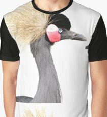 Grey Crowned Crane Graphic T-Shirt