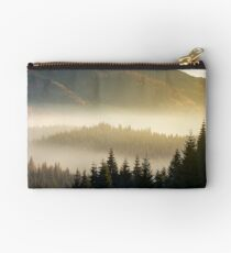 beautiful foggy scenery in autumn Studio Pouch