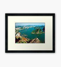 an inspiring Vietnam landscape Framed Print