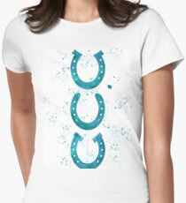 Watercolor Horseshoes Women's Fitted T-Shirt