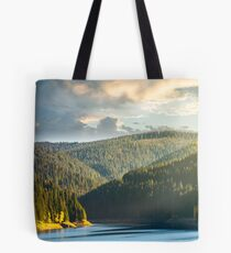 storage lake reservoir in mountain Tote Bag