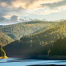 storage lake reservoir in mountain by mike-pellinni