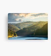 storage lake reservoir in mountain Canvas Print