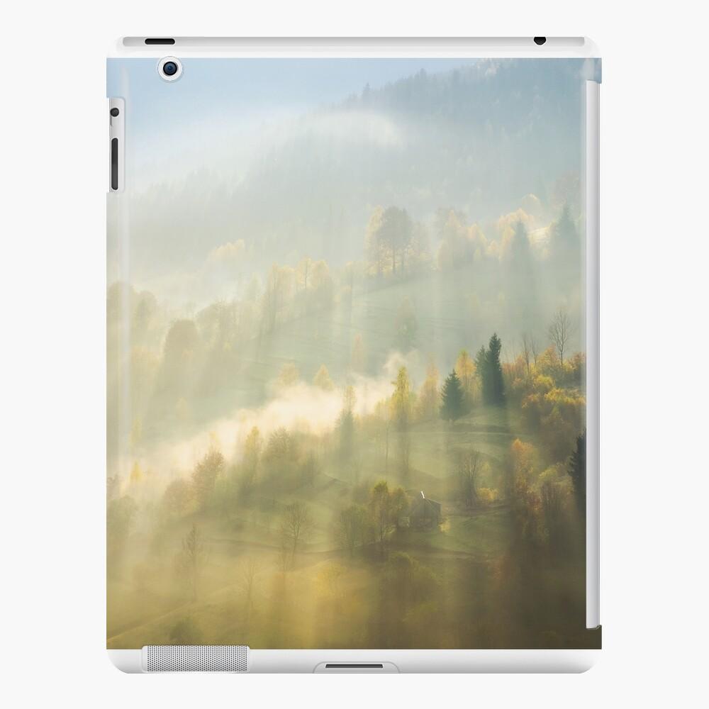 beautiful nature scene in fog iPad Snap Case