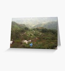 an exciting Vietnam landscape Greeting Card