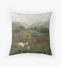 an exciting Vietnam landscape Throw Pillow