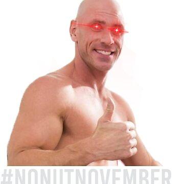 No Nut November meme- Endorsed by Johnny Sins [White Font] by ashikshrestha