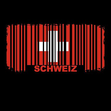 Switzerland flag barcode by S-p-a-c-e