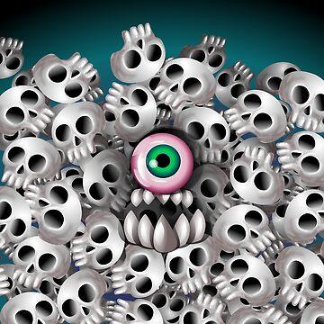 Skull Monster by fakeface