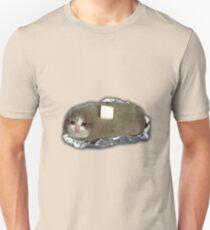 sad potato cat with butter Slim Fit T-Shirt