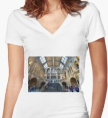 Natural History Museum Women's Fitted V-Neck T-Shirt
