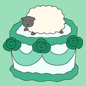 Birthday Cake Sheep by SaradaBoru