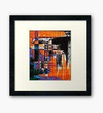 black blue and orange Framed Print
