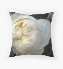 White in half shadow Rose Throw Pillow