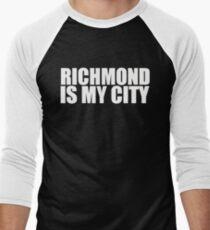 Richmond Is My City  Men's Baseball ¾ T-Shirt